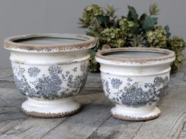 Melun Krukke med fransk mønster Keramikk H14,5 / Ø17,5 cm opal 1 st , hemmetshjarta.no