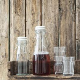 Flaske med hvitt lokk 500 ml , hemmetshjarta.no