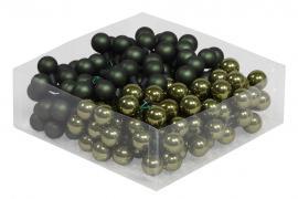 Glasskule.Bas Mørkgrønn Mix 2cm 144stk , hemmetshjarta.no