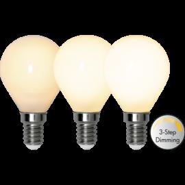 LED-Lampe E14 Ø45 Dim 3-step lm380/34w Frostet , hemmetshjarta.no