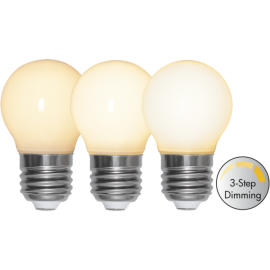 LED-Lampe E27 Ø45 Dim 3-step lm350/34w Frostet Ra90 , hemmetshjarta.no