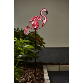 Solcelle dekorasjon Flamingo , hemmetshjarta.no