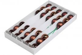 Glasskule.Bas Choklad Mix 4cm Lang 30stk , hemmetshjarta.no