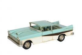 Dekorasjon bil De Soto Blue Metal 25x10x7.5cm , hemmetshjarta.no