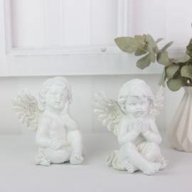 Sittende änglar med glitter 2-pack , hemmetshjarta.no