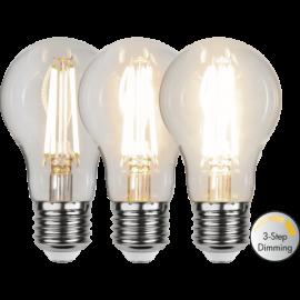 LED-Lampe E27 Ø60 Dim 3-step lm800/60w Clear , hemmetshjarta.no