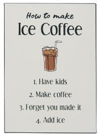 Metallskilt How to make Ice Coffee , hemmetshjarta.no
