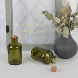 Glassflaske grønn 150ml 5,7x10,3cm , hemmetshjarta.no