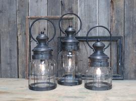 Uke 28 Fransk lanterne inkl. lyspære & timer H41 / Ø16,5 cm 1 stk , hemmetshjarta.no