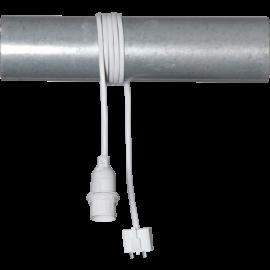Lampeholder E14 Basic Hvit 1,5m DCL Takplugg , hemmetshjarta.no