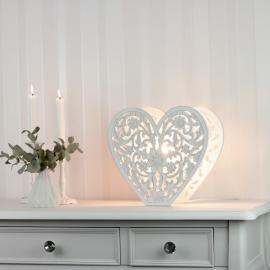 Lampe stående Hjerte skåret detaljer , hemmetshjarta.no