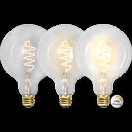 LED-Lampe E27 Decoled Spiral Clear G125 Dim 3-step , hemmetshjarta.no