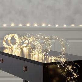 Lyslenke Dew Drop EL Kaldhvit 720 lys 300cm 36 strenger , hemmetshjarta.no