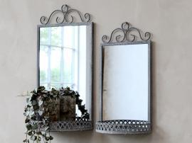 Speil med hylle H40.5 / L20 / W11 cm antikk sink , hemmetshjarta.no