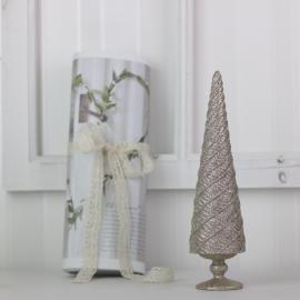 Juletre med glitter 26 cm , hemmetshjarta.no