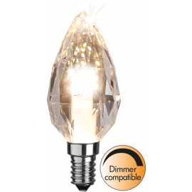LED-Lampe E14 Diamond Ø40 Dim lm380/34w , hemmetshjarta.no