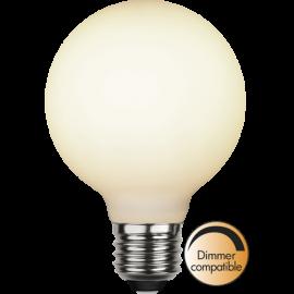 LED-Lampe E27 Double Coating Ø80 Dim lm400/35w Frostet , hemmetshjarta.no