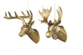 Hjort / Elghode Heng Mørk guld 12-13cm 2-pak , hemmetshjarta.no