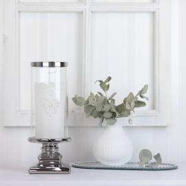 Lykt med glass Luksus 10,5 x 28,5 cm , hemmetshjarta.no
