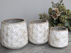 Colmar Krukke med blomster Keramik H17,5 / Ø17 cm antikk krem 1 st , hemmetshjarta.no