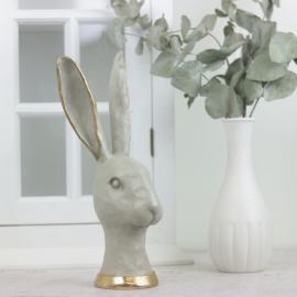 Hare hode 27 cm , hemmetshjarta.no