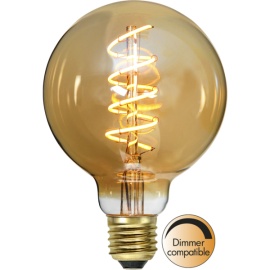 LED-Lampe E27 Decoled Spiral Amber G95 Dim , hemmetshjarta.no