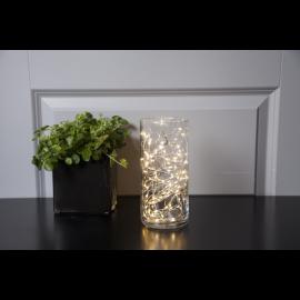 Lyslenke Dew Drop EL Kaldhvit 100 lys 500cm , hemmetshjarta.no