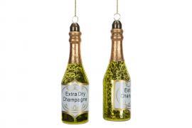 Champagneflaske Glass 4x14cm 2-pack , hemmetshjarta.no