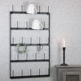 Kopp / rulleholder vegg svart 44x5x77cm , hemmetshjarta.no