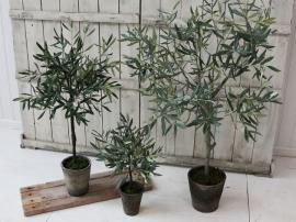 Kunstig Fleur Oliventrær i gl. keramisk Krukke H104 cm grønn 2-pack , hemmetshjarta.no