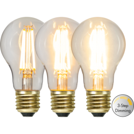 LED-Lampe E27 Soft Glow A60 Dim 3-step , hemmetshjarta.no