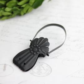 Fransk klemme, clips - svart , hemmetshjarta.no