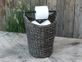 U. 13 Toalettpapirholder med kurv - mørk antikk , hemmetshjarta.no