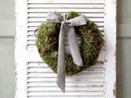 Fleur Krans med mose Ø39 cm grønn , hemmetshjarta.no