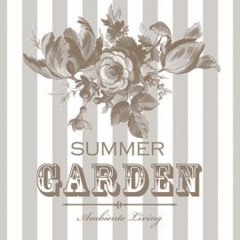 Serviett - Summer garden - beige , hemmetshjarta.no