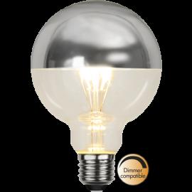 LED-Lampe E27 Top Coated Ø95 lm330/31w Silver , hemmetshjarta.no