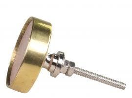 Marmorhåndtak med messingkant Ø4 cm , hemmetshjarta.no