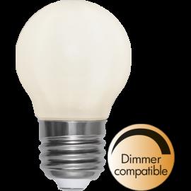 LED-Lampe E27 Ø45 Dim lm440/38w Frostet Ra90 , hemmetshjarta.no