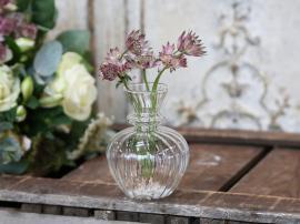 Vase H11/Ø8 cm klar , hemmetshjarta.no