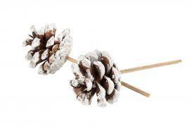 Kongle / Stick Hvit topp 5-6cm 10stk , hemmetshjarta.no