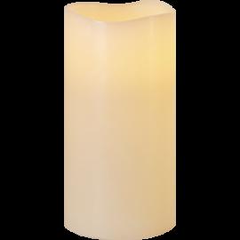 Batteridrevet Blokklys LED Big Elfenben 10x20cm , hemmetshjarta.no