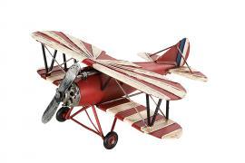 Dekorasjon fly Rød / Hvit Metall 27x28x12cm , hemmetshjarta.no