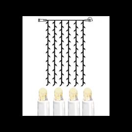 Utendørsdekorasjon System LED EL Lysgardin Extra Varmhvit 102 lys 100x200cm , hemmetshjarta.no