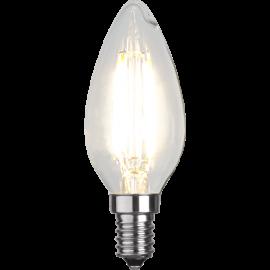 LED-Lampe E14 Ø35 lm470/40w Clear , hemmetshjarta.no