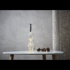 Lyslenke Dew Drop Batteridrevet kork/flaske Varmhvit 40 lys 200cm , hemmetshjarta.no
