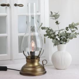 Lampe El 42 cm - Antikkmessing , hemmetshjarta.no