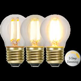 LED-Lampe E27 Soft Glow G45 Dim 3-step , hemmetshjarta.no