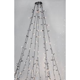 Juletrelenke Utendørs EL Crispy Ice White Hvit 360 Lys 196cm , hemmetshjarta.no