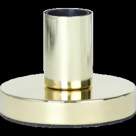 Lampefot E27 Glans Messing 8,5x12 , hemmetshjarta.no