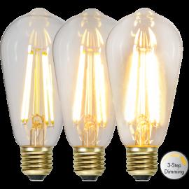 LED-Lampe E27 Soft Glow ST64 Dim 3-step , hemmetshjarta.no